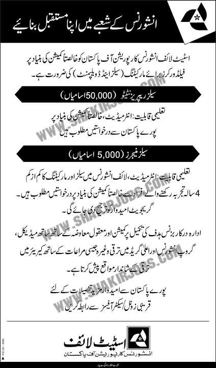 State Life Insurance Corporation of Pakistan Jobs 2020 Official Advertisement