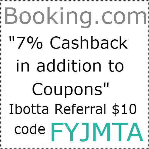 Booking.com cashback Ibotta app, $10 Ibotta Code