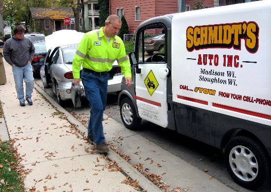 Cars With Cords Towing Company Uses Electric Vehicle For
