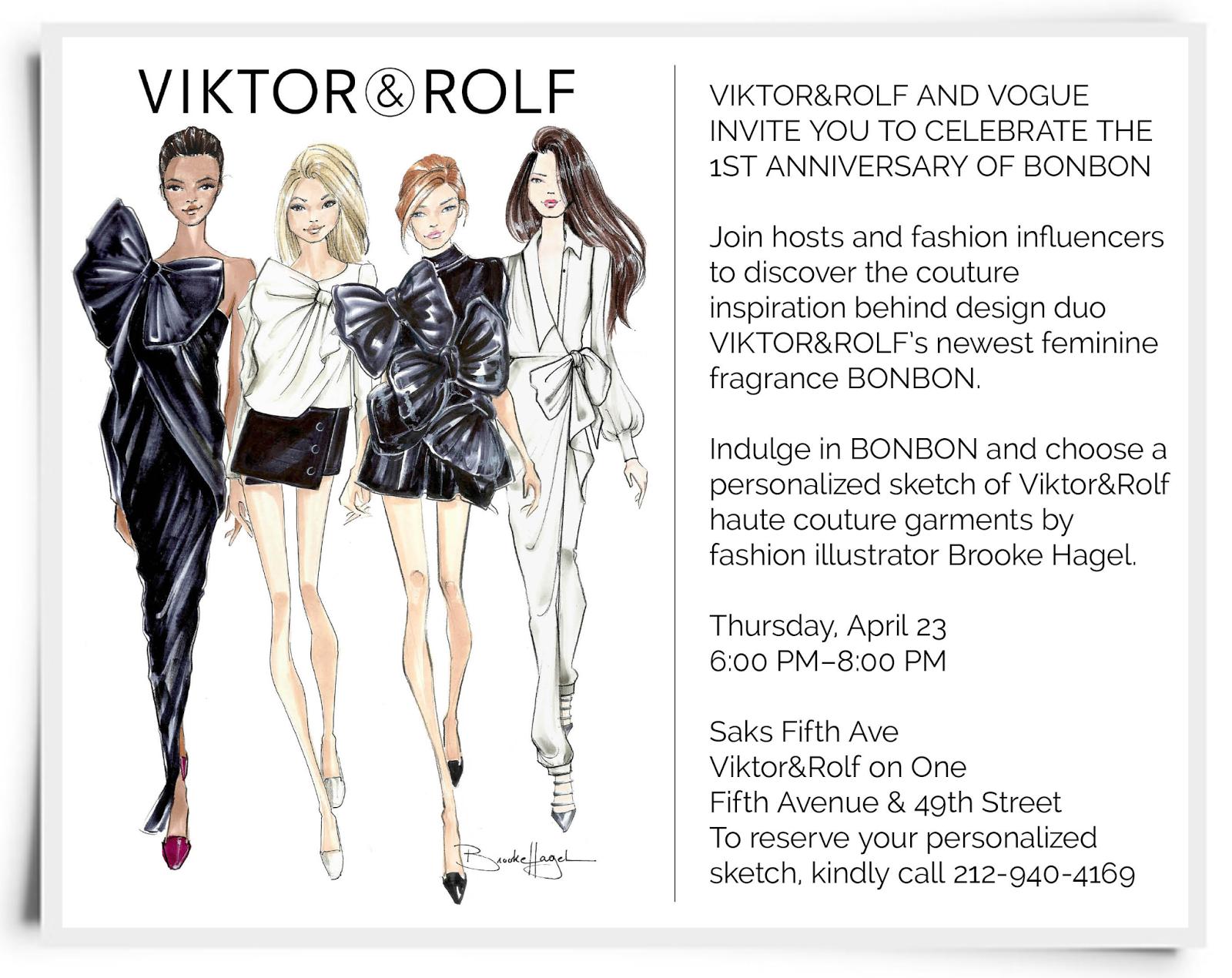 Fabulous Doodles Fashion Illustration Blog By Brooke Hagel Vogue And Viktor Rolf You Re Invited
