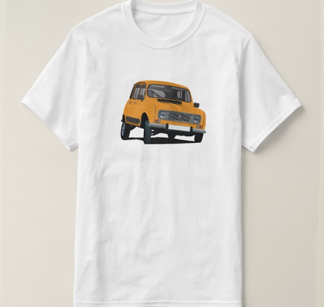 Renault R4 illustration shirt