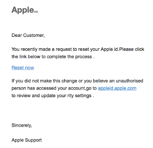 runs apple id reset email not requested Male (106) Female
