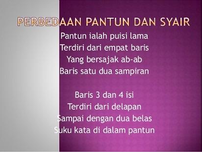 Perbedaan Pantun Dan Syair Dalam Bahasa Indonesia