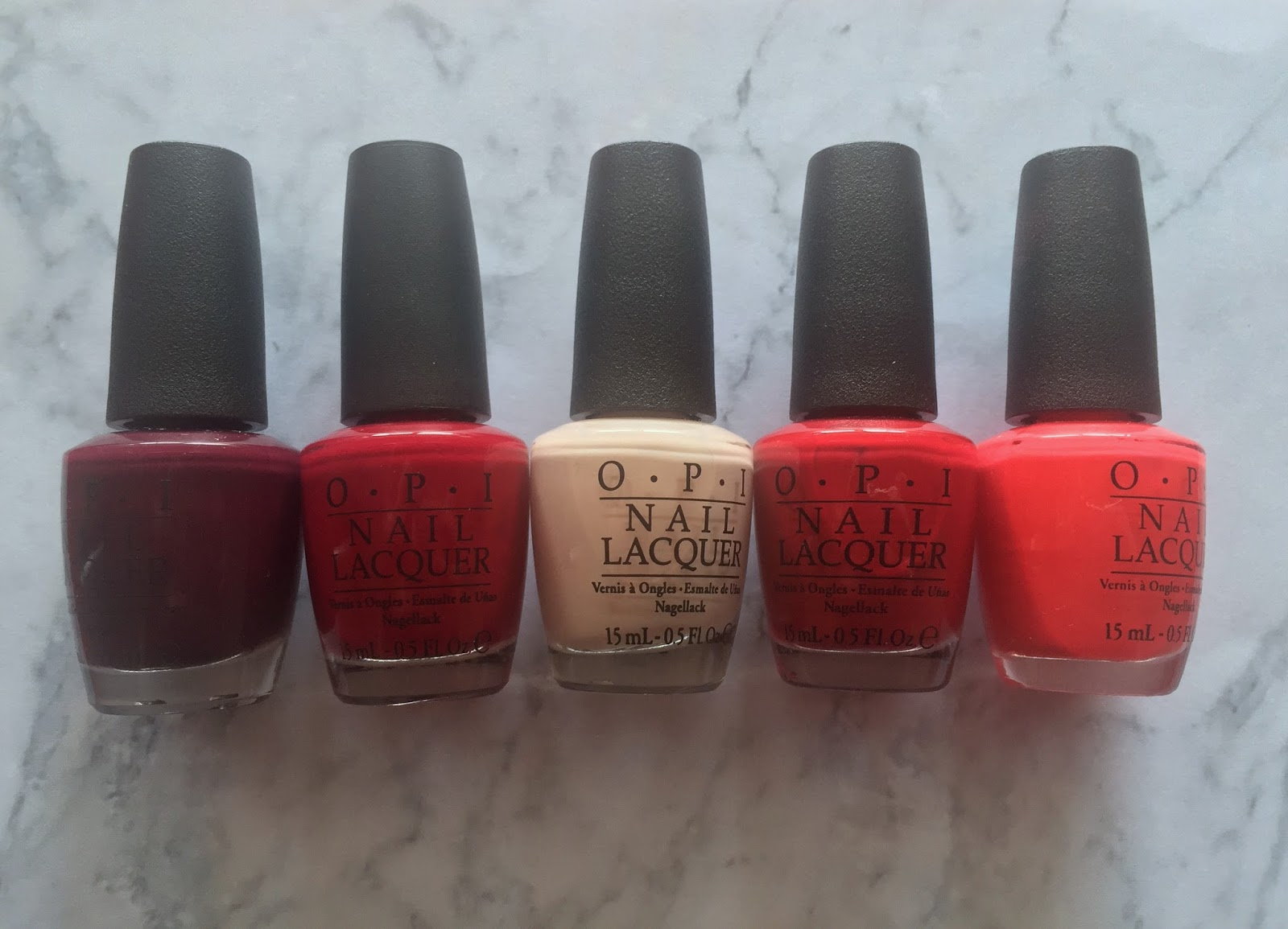 top 5 opi nail polishes