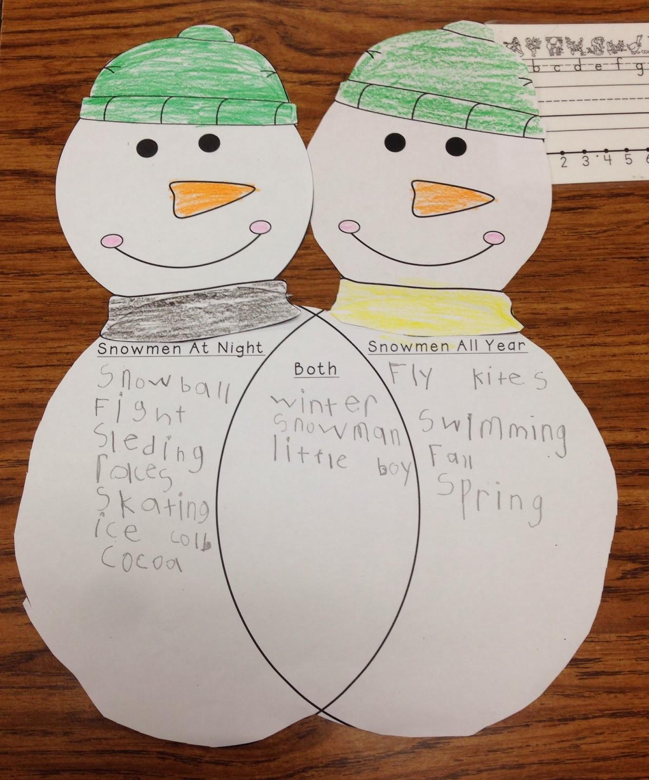 gingerbread man snowman venn diagram |Snowmen Venn Diagram