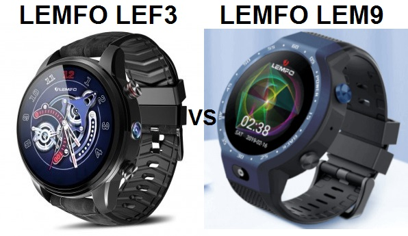 LEMFO LEF3 VS LEMFO LEM9 Smartwatch Comparison