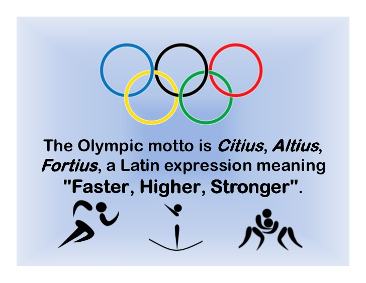 The Latin And English Versions Of The Olympic Motto 31