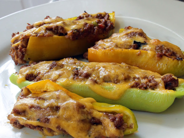 Banana peppers galore! (Low Carb Stuffed Banana Peppers)