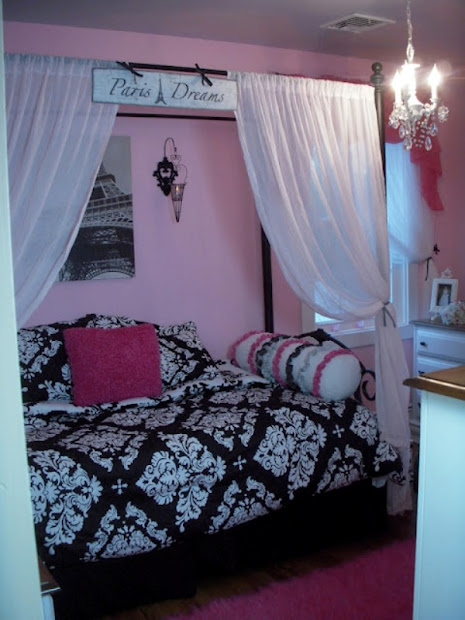 paris girls room themed bedrooms