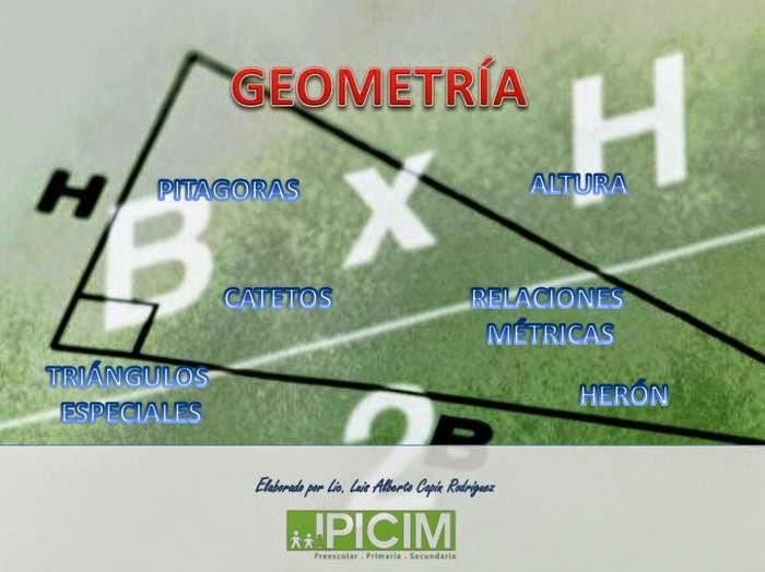 Triángulos en geometría