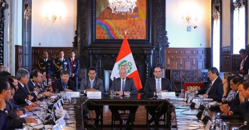 Presidente Kuczynski presidirá hoy 5° Reunión Gore Ejecutivo en Palacio de Gobierno