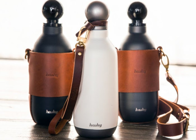 Hashy Bottle insulated stainless steel bottle and carrier