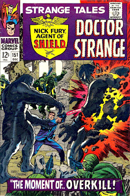Strange Tales v1 #151 nick fury shield comic book cover art by Jim Steranko