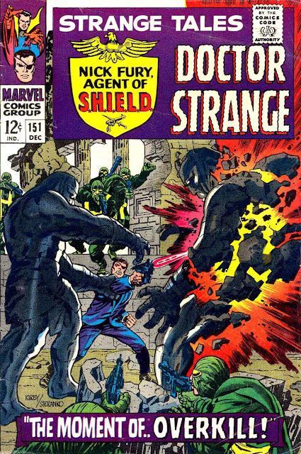 Strange Tales v1 #151 nick fury shield comic book cover art by Jim Steranko