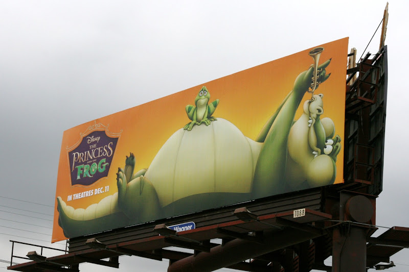 Princess and the Frog alligator billboard