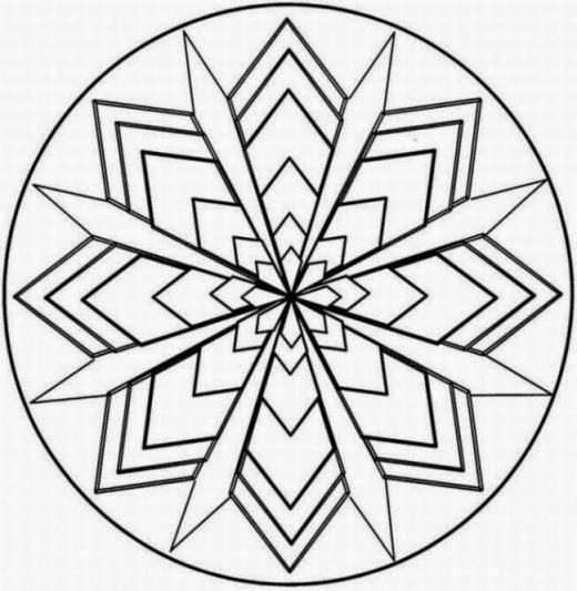 free geometic coloring pages - photo#19