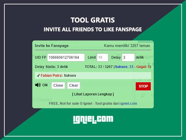Script Auto Invite / Undang Semua Teman ke Fanspage - igniel.com