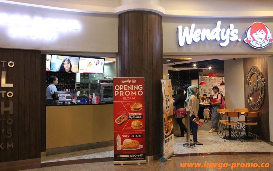 Promo WENDYS Opening Promo Plaza BLOK M Beef Burger Hanya Rp15.000