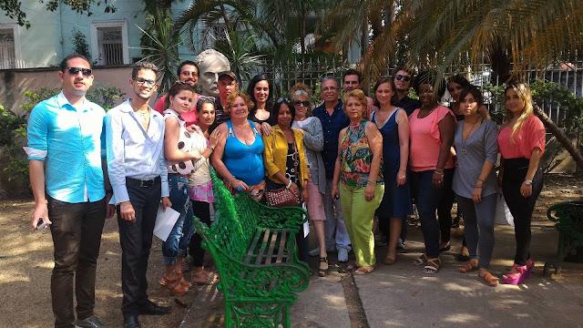 Con los alumnos del Taller de Documental Sonoro en La Habana