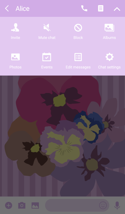 Adult cute flower Theme