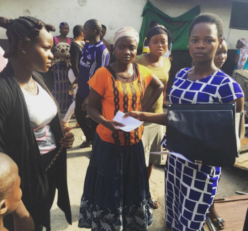 olajumoke goes back to the bakery where she used to work and gives the bread sellers 5,000 naira each