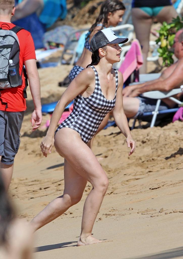 Minka Kelly Wearing a Swimsuit