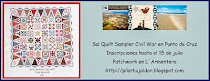 SAL QUILT SAMPLER CIVIL WAR EN PUNTO DE CRUZ