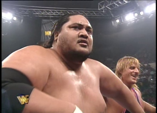 WWF / WWE: Wrestlemania 11 - Owen Hart and Yokozuna beat The Smoking Gunns for the WWF tag team titles