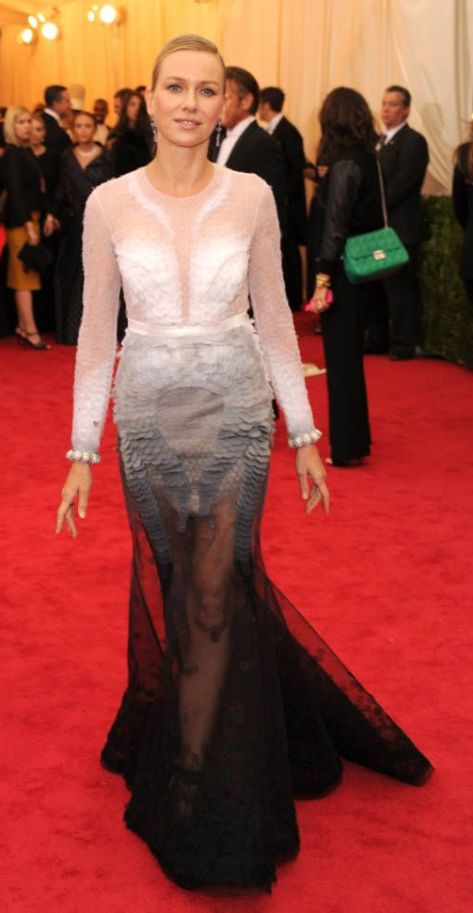 Naomi Watts in an ombré Givenchy Haute Couture gown at the Met Gala 2014