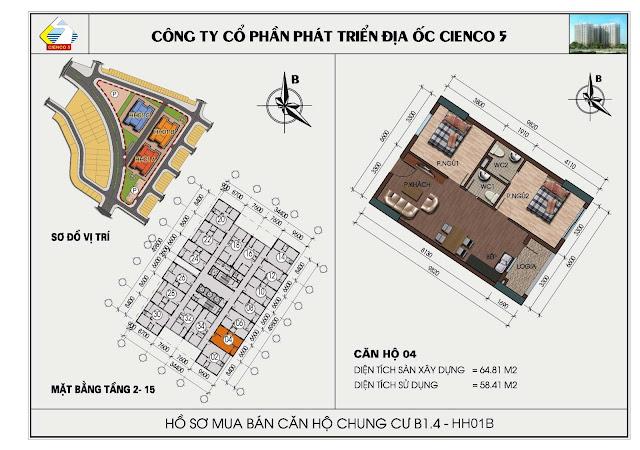 Hồ sơ mua bán căn hộ chung cư B1.4 căn 04 tòa HH01B