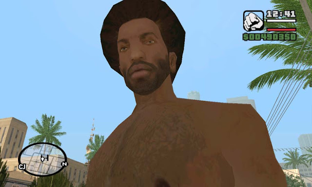 gta san andreas carl johnson afro