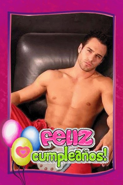 Feliz cumpleaños con chicos guapos para chicas divertidas
