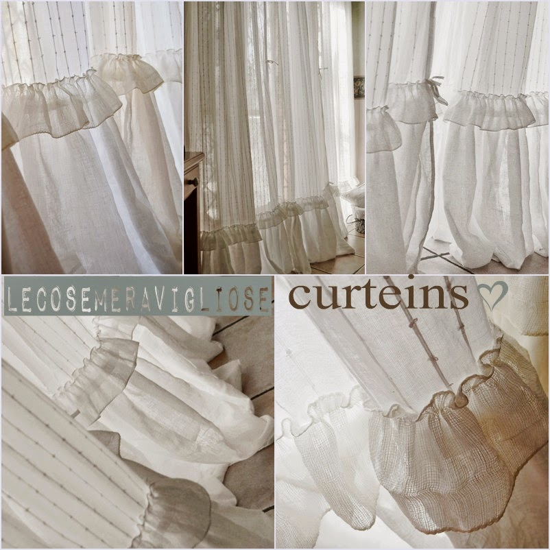 Top lecosemeravigliose Shabby e country chic passions: Tende Shabby chic TD69