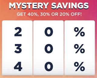 Kohls Mystery Saving 40/30/20% OFF 9/24/2017