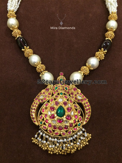 Pearls Beads Set with Pendant by Mira Diamonds