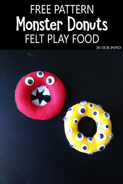 DIY Felt Monster Donuts for Play Kitchen and Kids' Pretend Play // In Our Pond