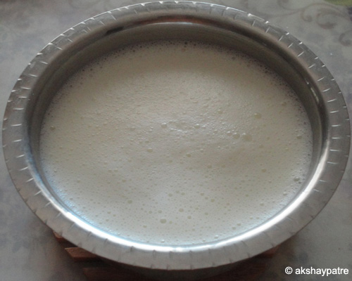 remaining milk added