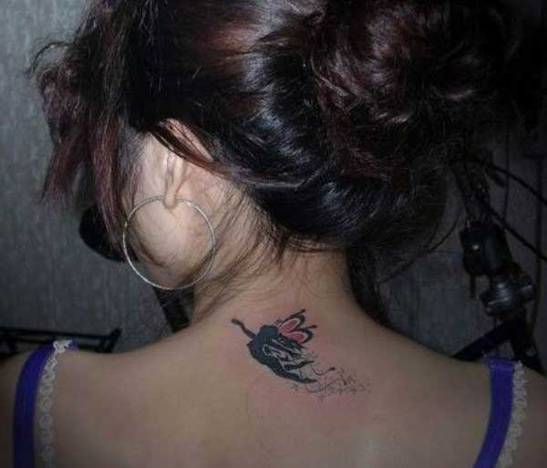 ense dövmesi kadın melek