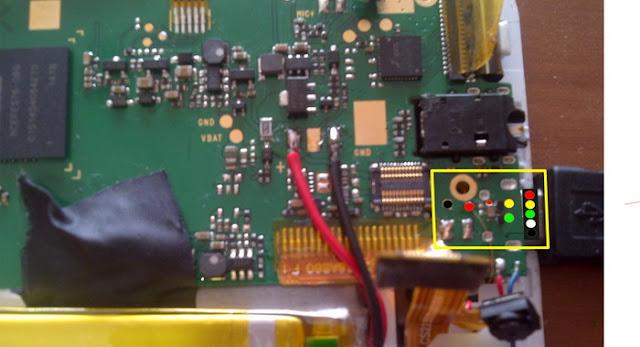 Trik jumper USB charger Advan Vandroid T1J+ karna kaki pin USB pada PCB lepas