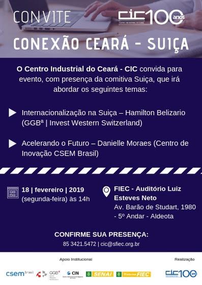 CIC promove Conexão Ceará-Suíça de hoje a quarta-feira 2d76048d639