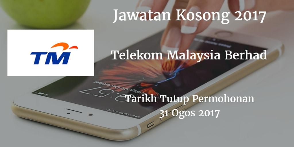 Jawatan Kosong TM 31 Ogos 2017