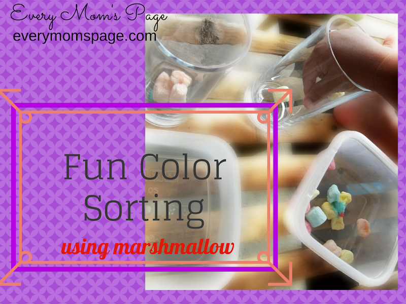 Fun Learning: Sorting Colors Using MarshMallows
