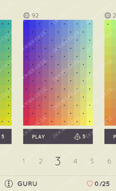 I Love Hue Guru Level 3 Solution, Cheats, Walkthrough