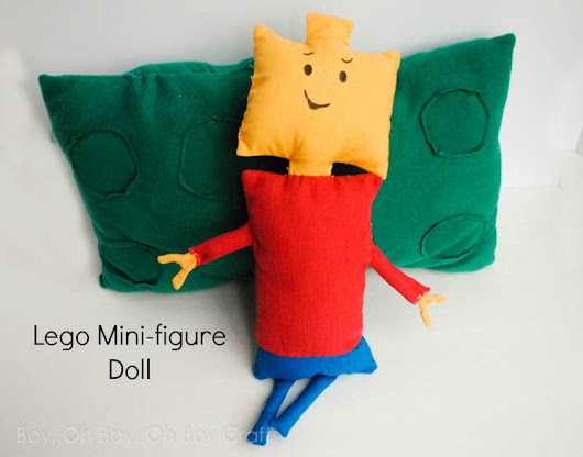Handmade Gifts For Boys: Lego Mini-figure Doll