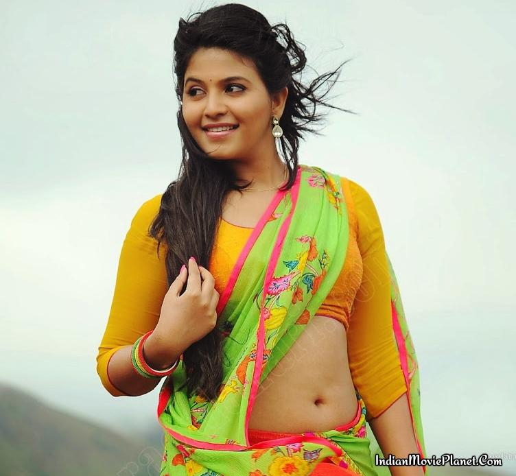 Karthika Nair Hot Navel In Saree