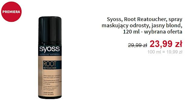 Syoss - spray maskujący odrosty