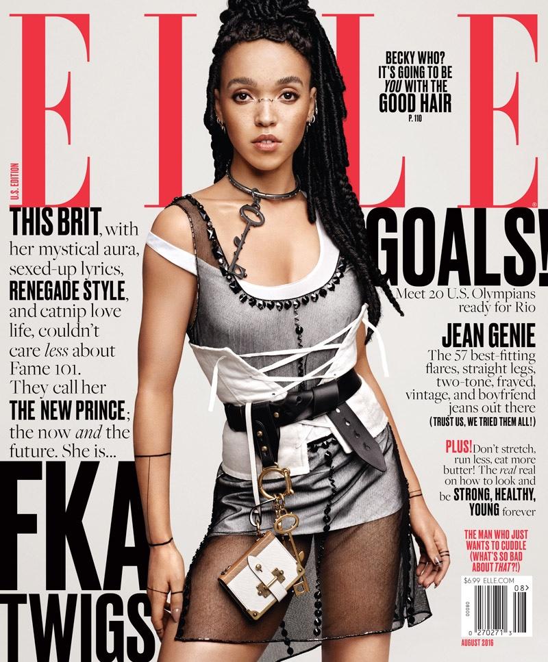 FKA Twigs wears Prada for Elle August 2016