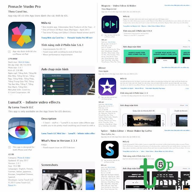 Top 5 phần mềm chỉnh sửa Video tốt nhất trên iOS