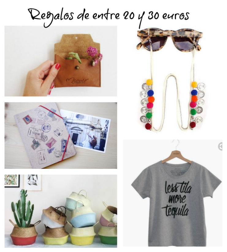 ideas de regalos de entre 20 y 30 euros
