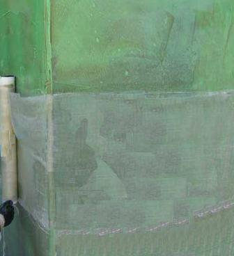 Column repair with Glass fibre reinforcement polymer